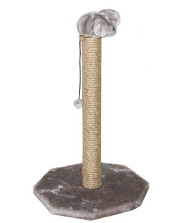 """Когтеточка """"Мышка на Столбике"""", 50см, сизаль, основ. – 36,5*36,5см (8301с)"""
