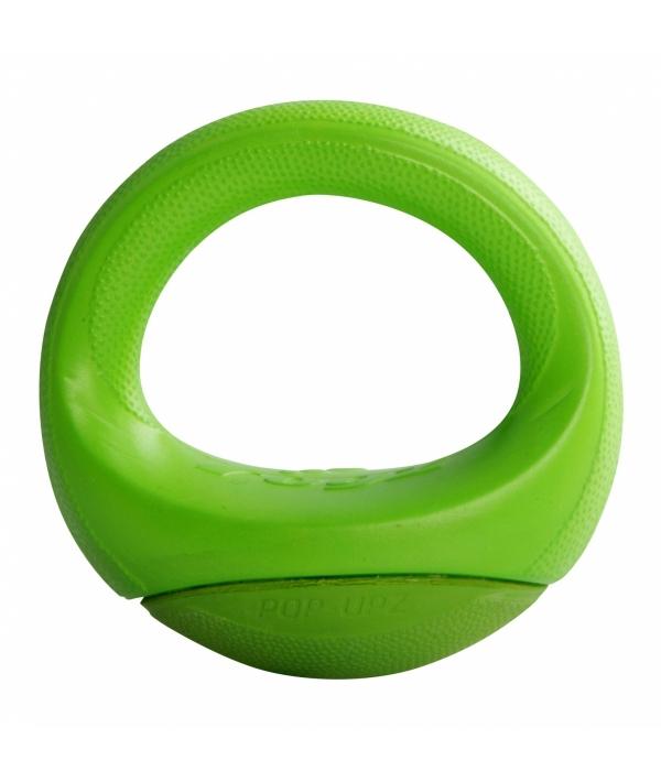 Игрушка для собак кольцо – неваляшка Pop – Upz, среднее/большое, лайм (Rogz Pop – Upz Lime Med/Large) RPU04L