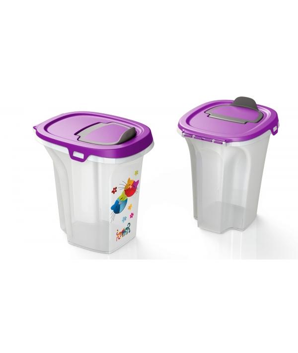 Контейнер для корма Trendy Story Друзья навсегда 6 л, фиолетовый