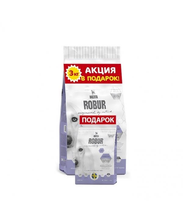 Robur для взрослых собак с нормальным уровнем активности и чувствительным пищеварением, с ягненком (Sensitive Single Protein Lamb & Rice 23/13) 14842