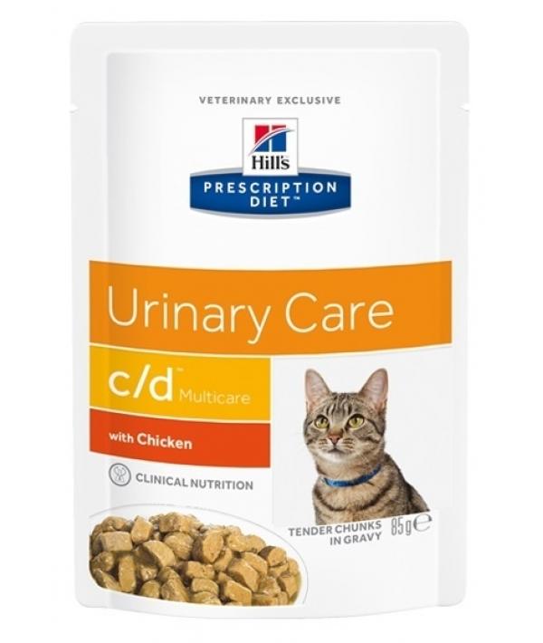 Паучи C/D для кошек при профилактике МКБ с курицей (кусочки в соусе) 1188M