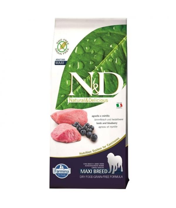 N&D GF Беззерновой корм для собак крупных пород с ягненком и черникой 1067