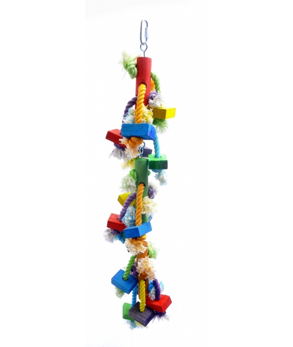 """Игрушка – дразнилка для длиннохвостых попугаев """"Каскад"""" 13*13*60 см (Coco toy xxl for parrot/parrakeet) 14212.."""