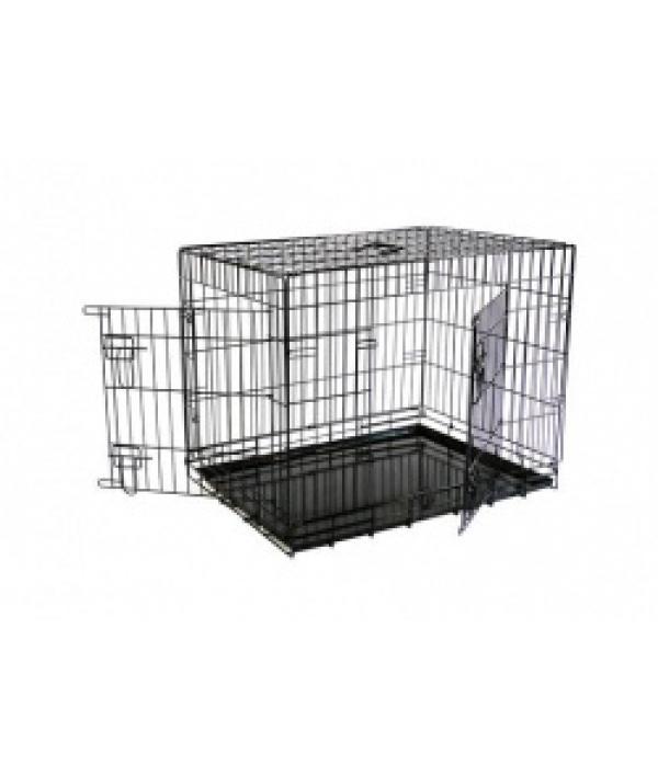 Клетка металлическая с 2 дверками 87*58*67 см, черная (Wire cage black 2 doors) 151287