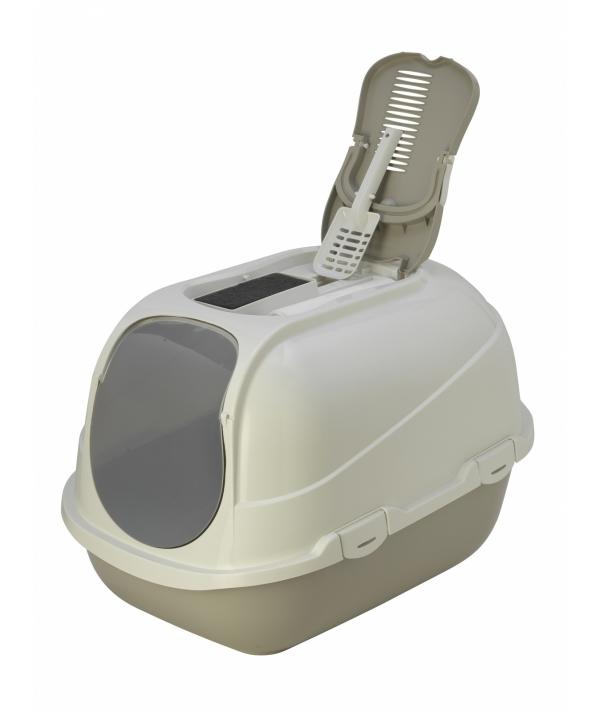 Туалет – домик Mega Comfy с совком и угольным фильтром, 65,7x49,3х47, теплый серый (mega comfy) MOD – C270 – 330.