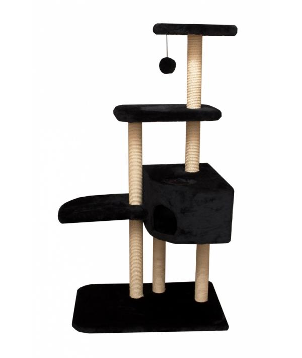 Домик – когтеточка Трикси, черный, 45*45*142, джут РП
