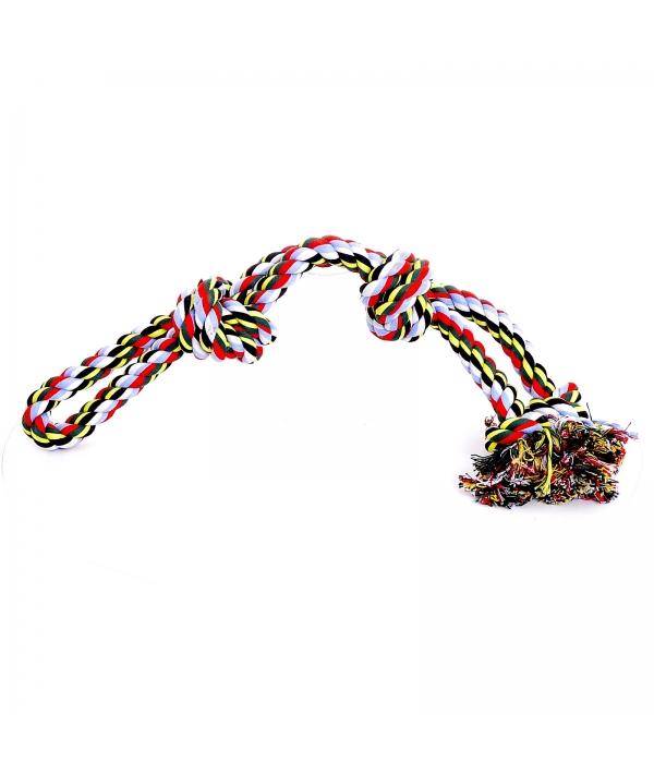 """Игрушка для собак """"Веревка Двойная с 4 узлами"""", хлопок, 65см (Cotton flossy toy double 4 knots) 140751"""