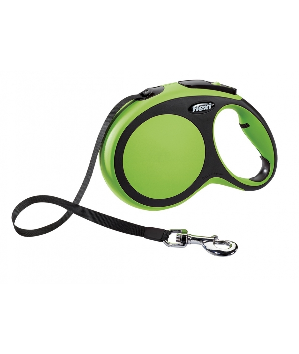Рулетка – ремень для собак до 15кг, 5м, зеленая (New Comfort S Tape 5 m, green)