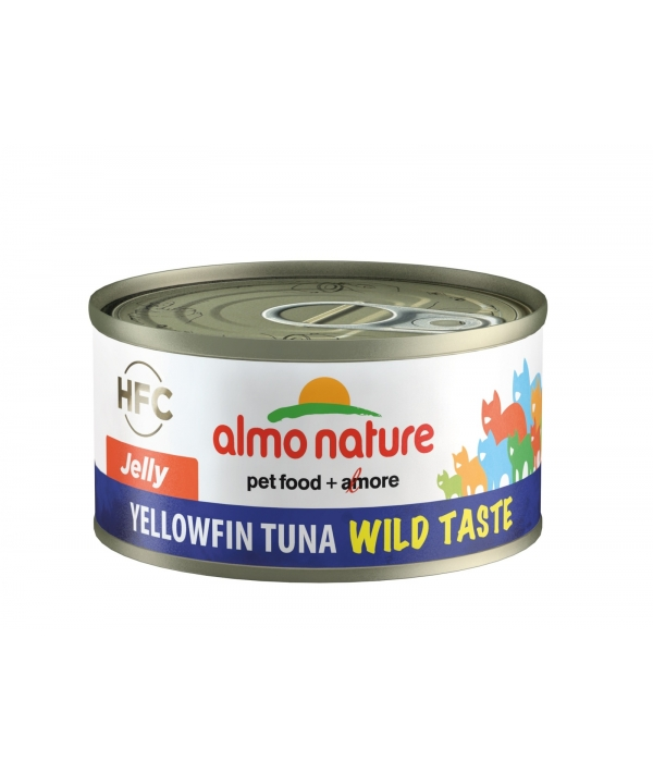 "Консервы для кошек ""Желтохвостный тунец"" в желе, 75% мяса (HFC WILD TASTE JELLY CATS YELLOWFIN TUNA) 5321H"