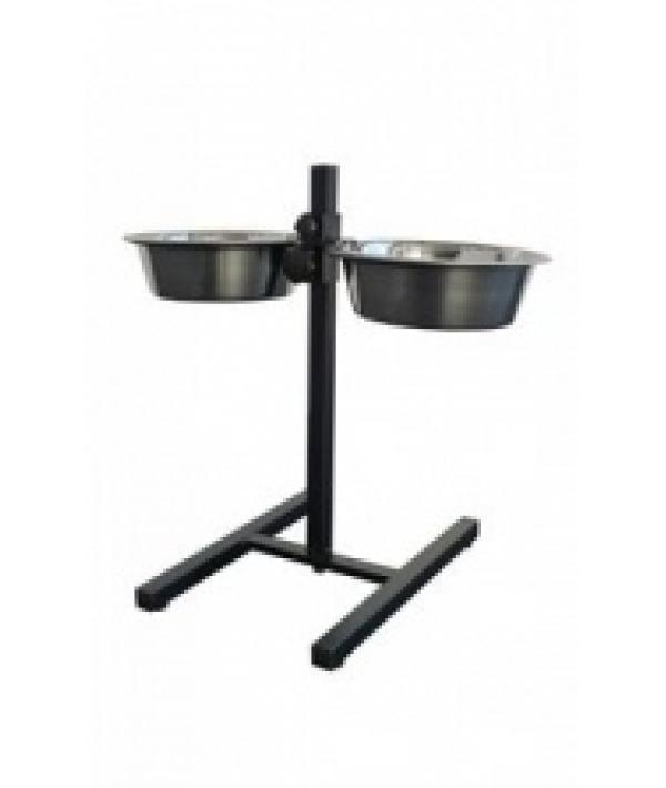 Стойка с подставкой под миски 25см, 2,8 л , с мисками (Double dinner H – stand, incl. bowls) 175426