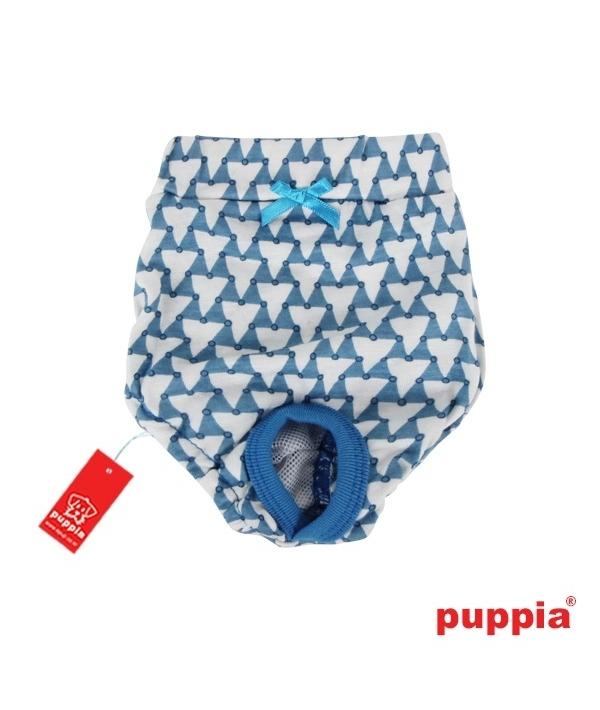 "Трусы для собак с геометрическим узором ""Мартина"", голубой, размер L (длина 19 см) (MARTINA SANITARY PANTY/MD.BLUE/L) PAOA – PT1229 – ML – L"