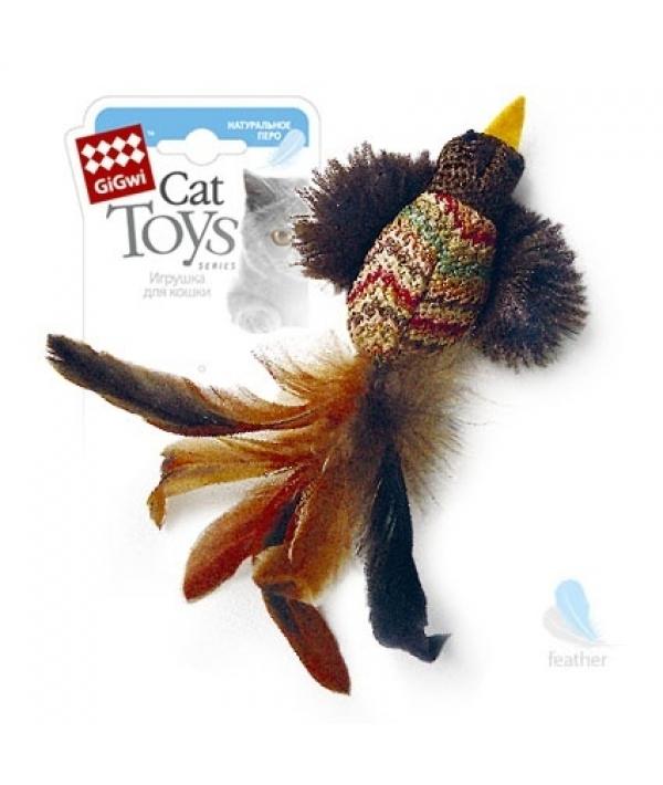 Игрушка для кошек Птичка с перьями 12 см (75264)50845