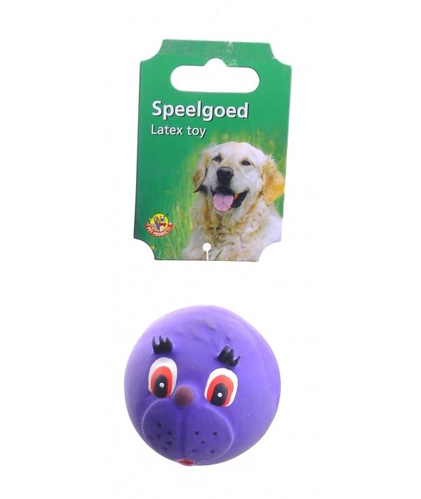 """Игрушка для собак """"Мяч с мордочкой животных"""" 7см (620560)16291"""