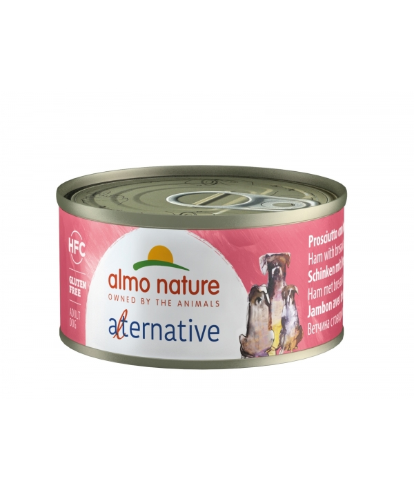 "Консервы для собак ""Ветчина и говядина брезаола"", 55% мяса (HFC ALMO NATURE ALTERNATIVE DOGS HAM AND BRESAOLA) 5462"