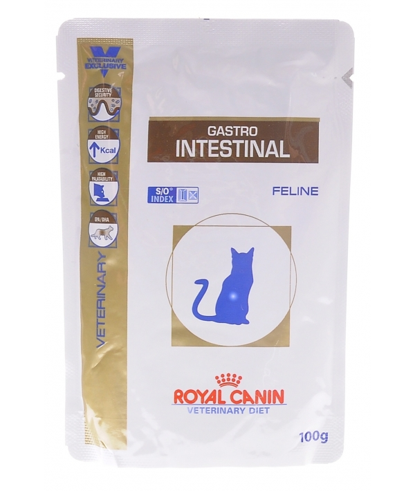 Кусочки в желе для кошек при лечении ЖКТ (Gastro Intestinal) 766001/ 766101