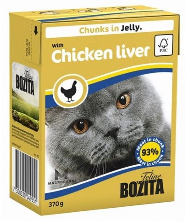 Кусочки в ЖЕЛЕ для кошек c куриной печенью (with Chicken Liver)