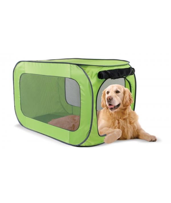 Переносной домик для собак гигантских пород 62,2*62,2*101,8 см, полиэстер (Portable dog kennel X – large) PL0016