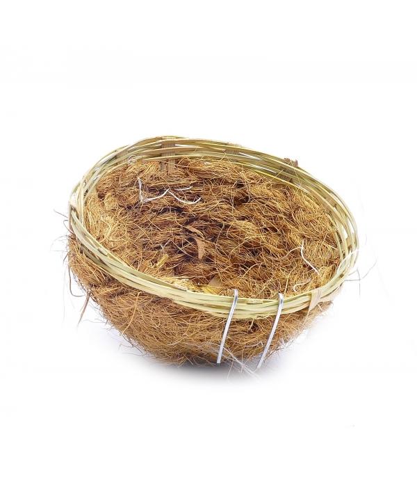 Гнездо для канареек (бамбук/кокос) ø11.5 см (Bird nest bamboo/coco canaries) 14550