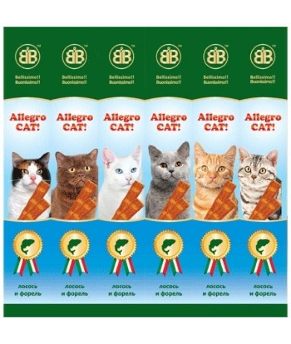 Колбаски для кошек с лососем и форелью, 6шт (36451)