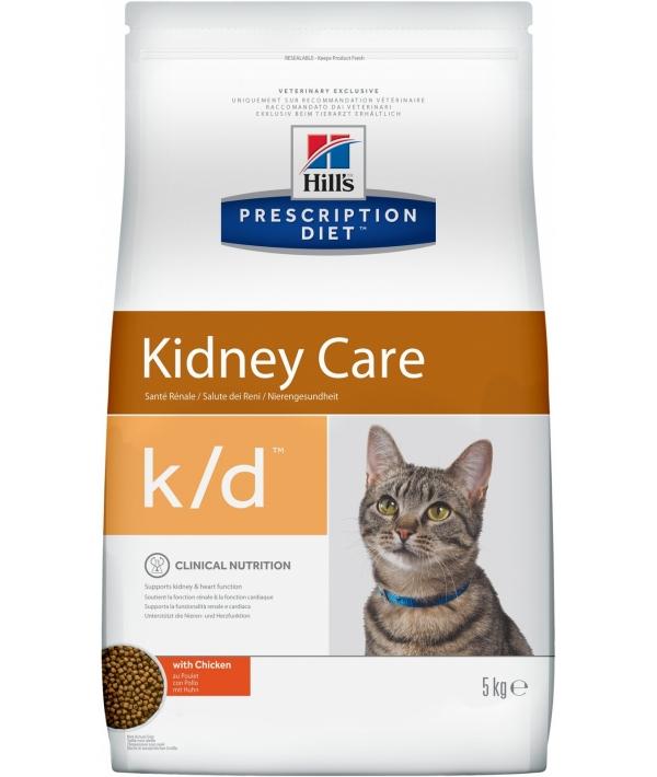 k/d для кошек лечение почек, сердца и нижнего отдел мочевывод.путей (курица) 5484W