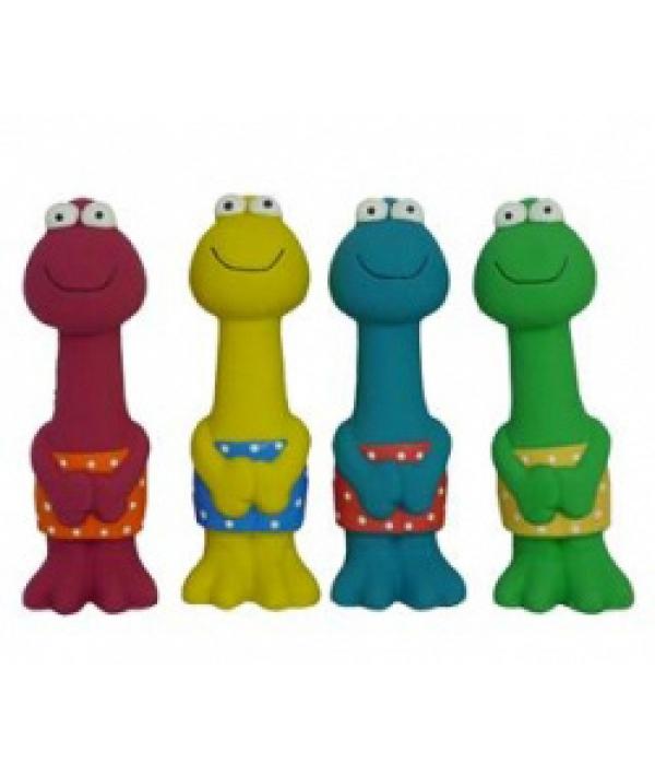 "Игрушка для собак ""В заплыве"", латекс, 23см (Frog with swimming trousers)140068"