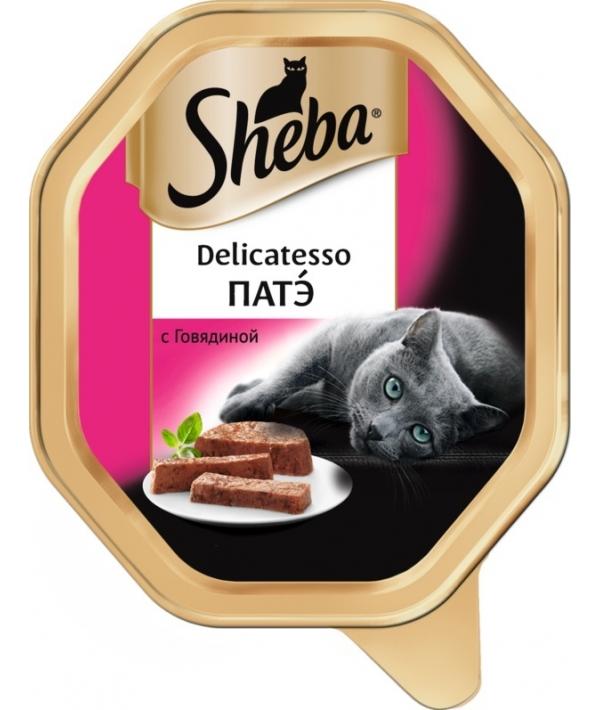 Консервы для кошек Delicatesso патэ с говядиной 10169413