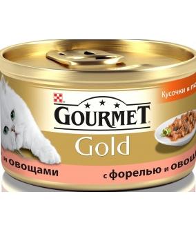 Кусочки в соусе Gourmet Gold c форелью и овощами – 12109500/12318135