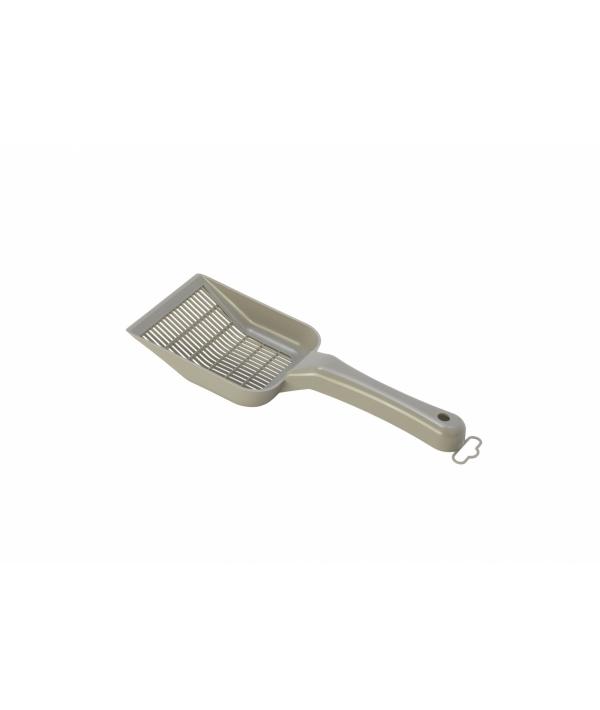Совок для мелкого наполнителя, 10х28х4см, теплый серый (scoopy small sifting) MOD – C155 – 330.