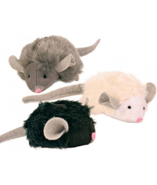 Игрушка д/кошек 1 Мягкая мышка с микрочипом, 6,5см (пищит при касании) – 4199