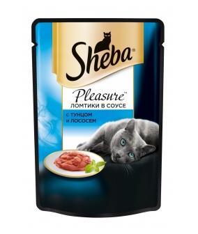 Паучи для кошек Плежер тунец и лосось 6979