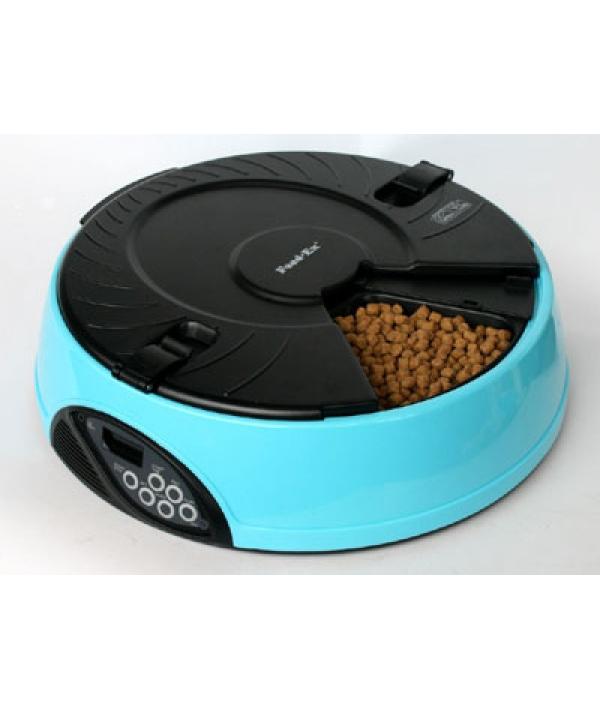 Автокормушка на 6кормлений для сухого корма и консерв Голубая PF6B