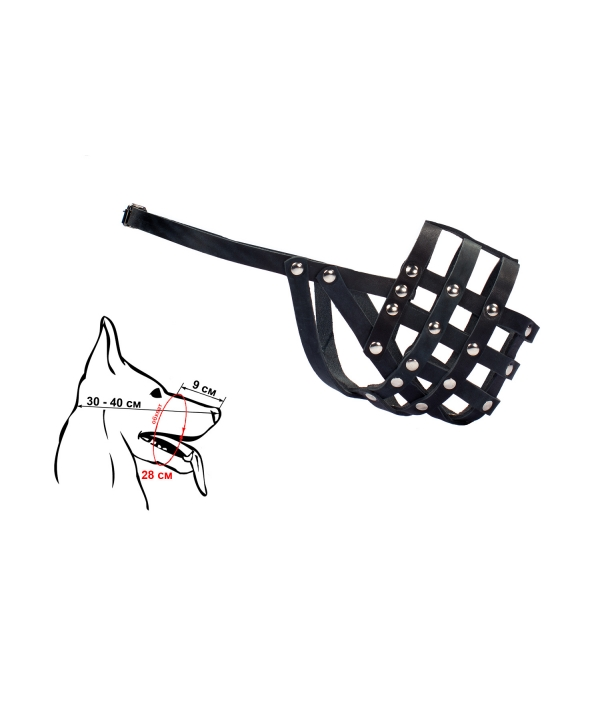 Намордник кожаный N 3: щенок овчарки (050103)