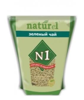 """Комкующийся древесный (гималайский кедр) наполнитель Naturel """"Зеленый чай"""" на 4,5 л"""
