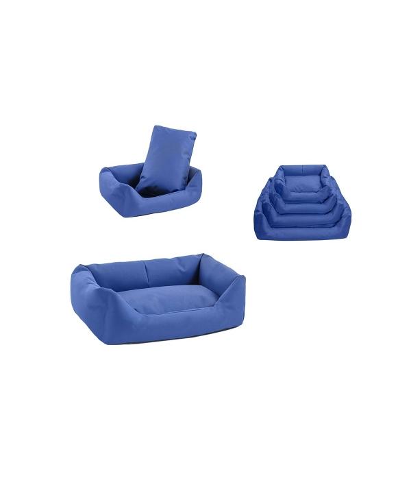 Лежак прямоугольный с подушкой №1, 55*40*18 тёмно – синий (9401син)