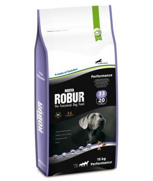 Robur Для активных собак с курицей и кукурузой (Performance 33/20)