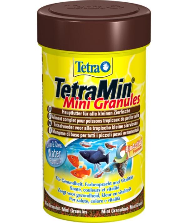 Корм для всех видов рыб, мелкие гранулы TetraMin Mini Granulat 100ml 199057