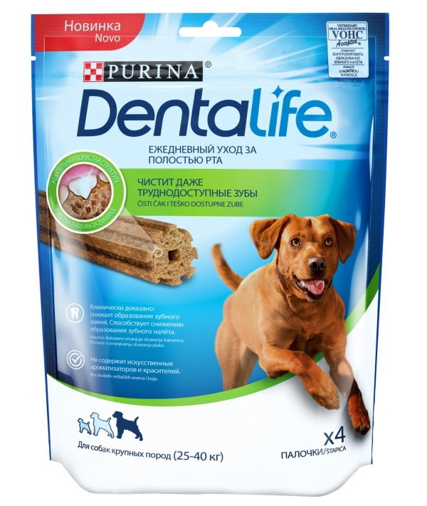 Лакомство для собак крупных пород Здоровые зубы и десна DENTALIFE Large 12365753