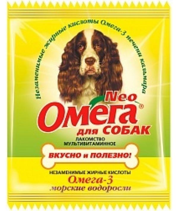 Омега Neo витамины для собак с морскими водорослями,15 таб.(саше)