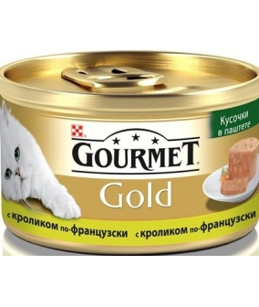 Кусочки в паштете Gourmet Gold с кроликом по – французски для кошек – 12254211/12318154