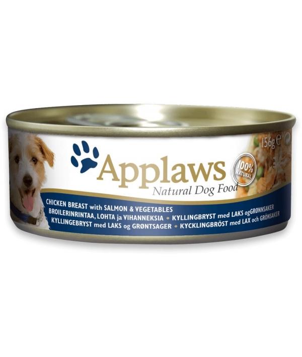 Консервы для собак с курицей, лососем и овощами (Applaws Dog Tin Chicken with Salmon, Veg) 3034CE – A