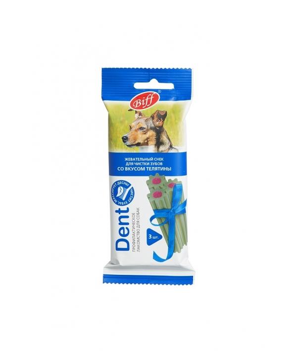 Жевательный снек для собак DENT со вкусом телятины, 1шт (для средних пород)002889/000991