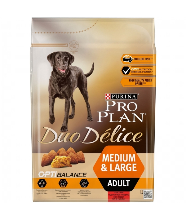 Для взрослых собак с говядиной и рисом (DUO DELICE) 12202610/12381805