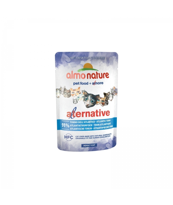 "Паучи для кошек ""Атлантический тунец"" 91% мяса (Alternative – Atlantic Tuna) 4701"
