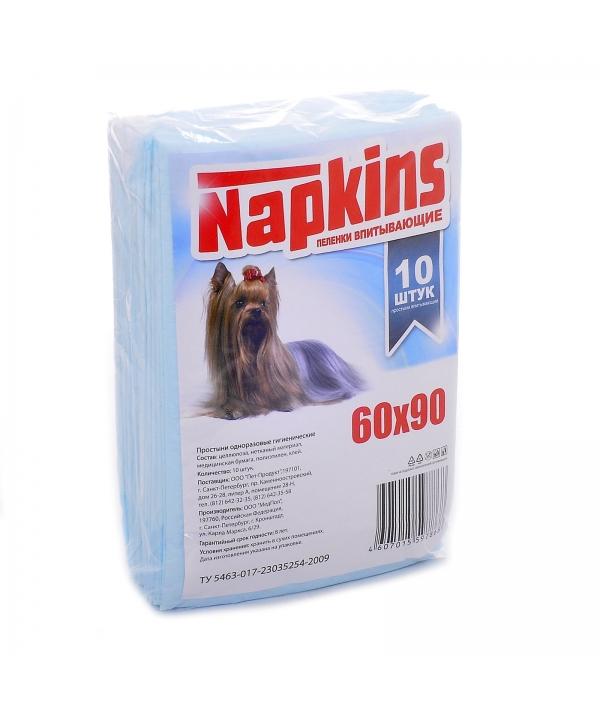 Впитывающие пеленки для собак 60*90, 10шт.