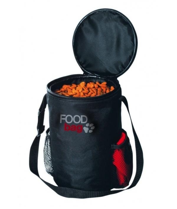 Дорожный набор: миска 1,8л, сумка для корма на 1,5кг, нейлон – 2490