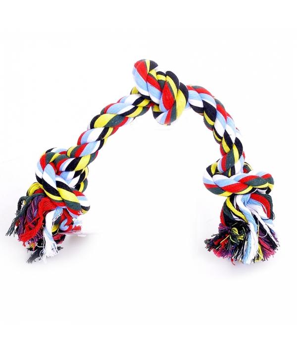 """Игрушка для собак """"Веревка с 3 узлами"""", хлопок, 45см (Flossy toy 3 knots) 140747"""