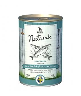 Naturals консервы для собак со скумбрией