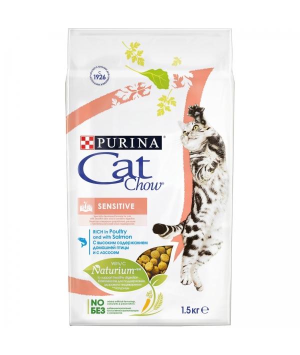 Для кошек с лососем и рисом – для пищеварения (Sensitive) – 12123733