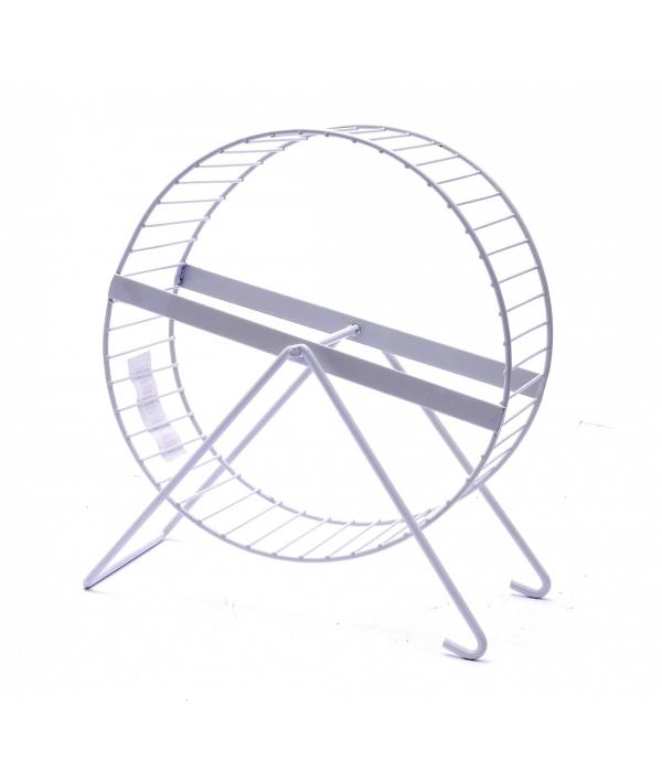Металлическое колесо для хомяков ø 17 * 20 см (Metal hamster wheel large) 3439