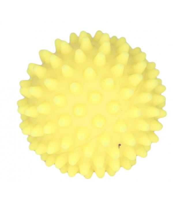 """Игрушка для собак """"Мяч массажный №2"""" винил желтый"""
